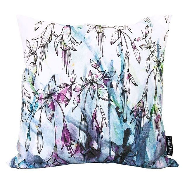 regram @whatjessdidfind My Fuchsia design is a bright botanical burst for your sofa as well as a wall. Available as an art print and as this digitally printed cotton cushion with a duck feather filler. Made in the UK limited number available for this Christmas in my web shop and on Not on the High Street.  http://ift.tt/2f5rVdD #botanicalgift #botanicaldesign #madeintheuk #cushions #floralcushion #nothspartner  #noths #jessicawildedesign #textiles #madeintheuk #botanicalhome #naturelover