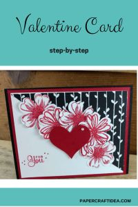 Valentine Card DIY Easy, handmade love cards, heart cards diy, stampin up romantic cards, cute love cards - Laura's Paper Craft Ideas