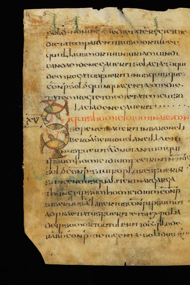Half Uncials A Really Old Page This Leaf Is Old It Dates