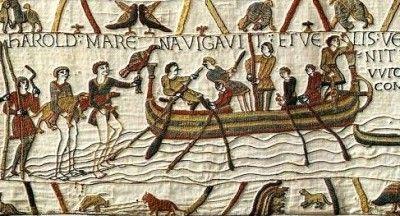 10. broderie de Bayeux, embarquement