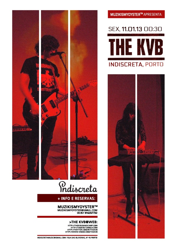 Concerto The KVB, Porto @ Indiscreta bar - 11.01.13