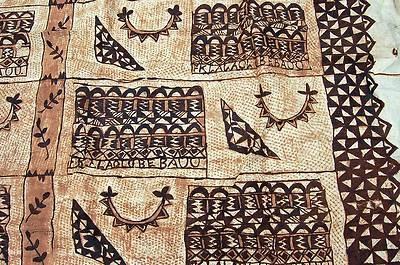 VINTAGE TONGA ISLAND 90 X 13 FOOT TAPA BARKCLOTH CEREMONIAL RUG