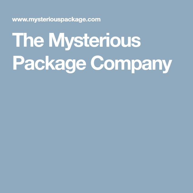 The Mysterious Package Company