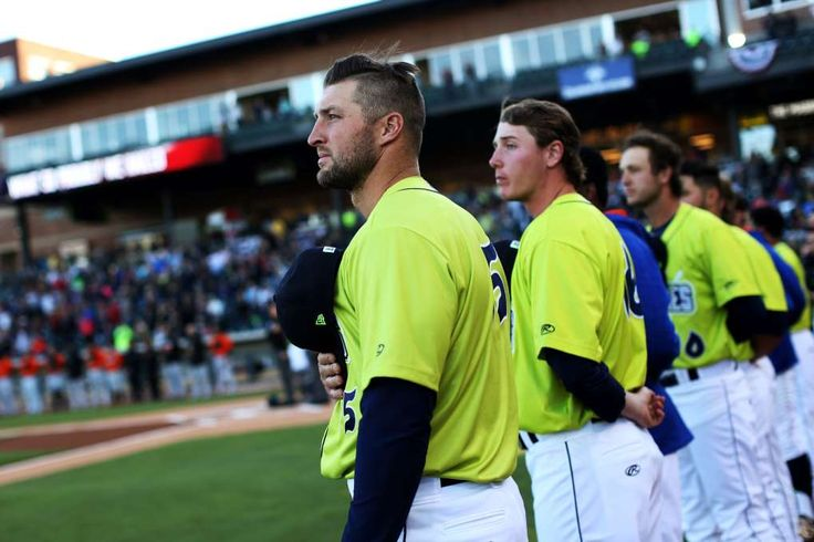 Tebow's 2nd Act Has South Carolina Giving Him the 1st-Class Treatment - April 10, 2017: Tim Tebow and his Fireflies teammates.