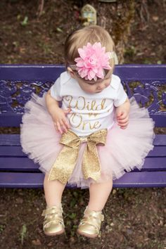 Wild One Birthday Outfit // Pink and Gold First Birthday Outifit // Gold Arrow Birthday Outfit by LittlePrincessBottom on Etsy https://www.etsy.com/listing/248647109/wild-one-birthday-outfit-pink-and-gold
