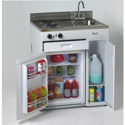 No tiny house would be complete without this compact kitchen from Avanti. organization ideas
