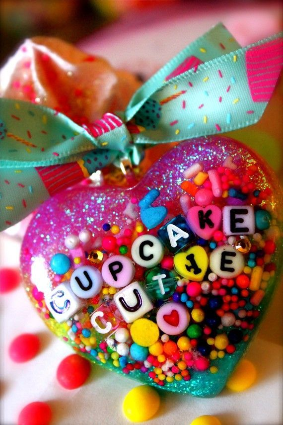 Cupcake Cutie  Candy Resin Sprinkles and Glitter by athinalabella, $32.00