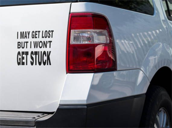 I may Get Lost Truck Decal Off Road Jeep DecalAdventure