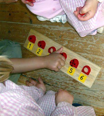 Tapones y números. otra opcion poner tapones de distinos tamaños!!! me gusta