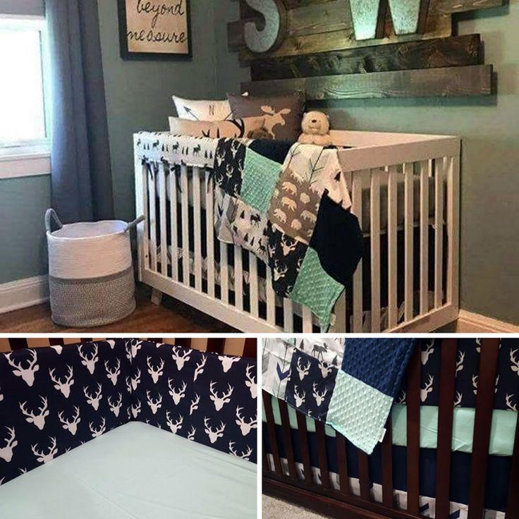 Rustic Woodland Themed Crib Set