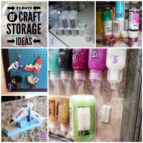 Welcome to day six of the 31 Days of Craft Storage Ideas. Today we are talking about storing glue and adhesives. I've included ideas to store glue guns and other adhesives.
