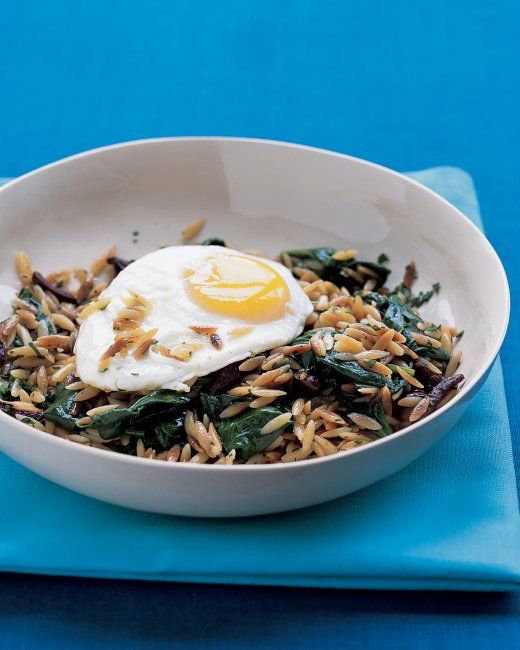 Orzo and Spinach Hash   Recipe