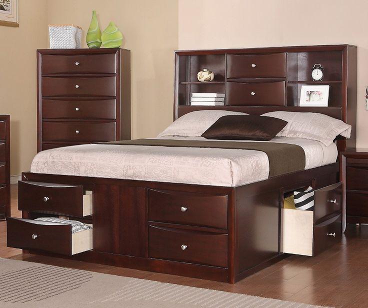 25 best queen bed frames ideas on pinterest. Black Bedroom Furniture Sets. Home Design Ideas