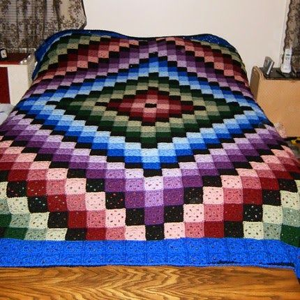 Free Crochet Lap Quilt Patterns : Around the World Crochet Quilt - Free Pattern. Abstract ...