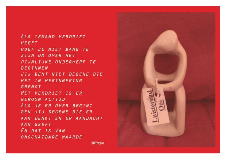 Verdriet en aandacht www.freya.nl