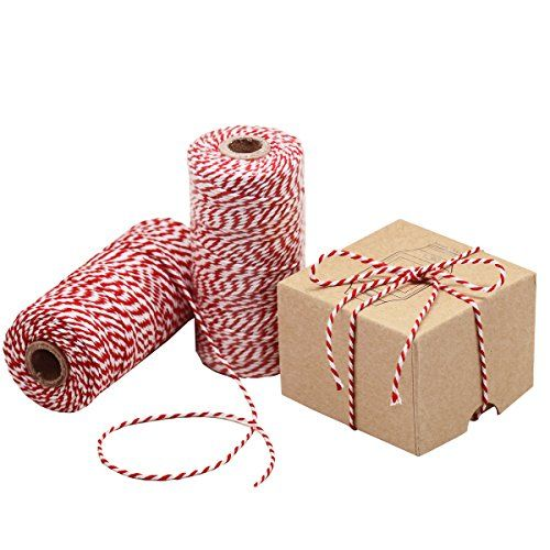 Varied uses. Our super long cotton bakers twine is probably the most handy and valuable multipurpose binding thing you can ever have. Each 300 feet long roll can help you in thousands of ways. Use it to tie cakes and pastry boxes to add elegance to your presentation. You may also apply it to decorate your gifts cards party favors school projects or DIY crafts.  Practical. Even ordinary objects can have an elegant presentation using this twine. Just spruce them up with a bit of the striped…