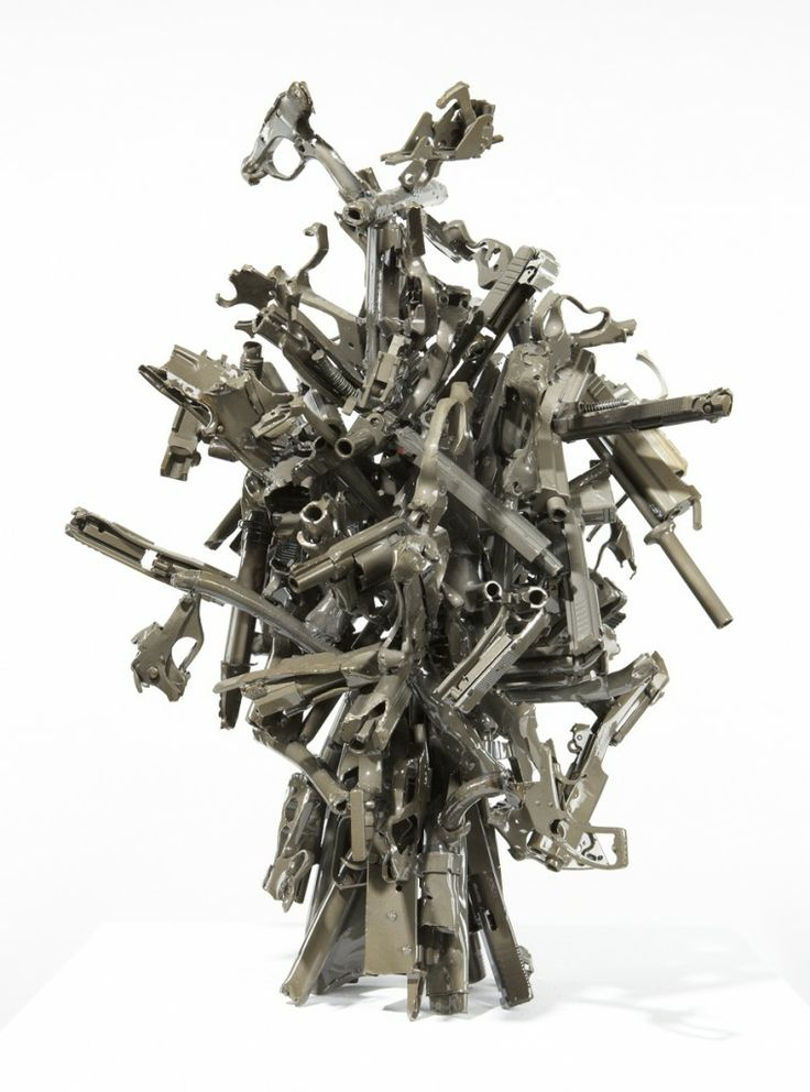 From Victor Hugo Zayas' collection of sculptures made from over two tons of destroyed weapons from the LAPD.