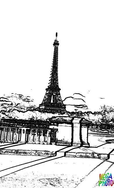 La tour Eiffel/vue de Birakeim