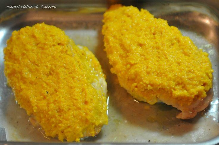 Petto di pollo in crosta di mandorle