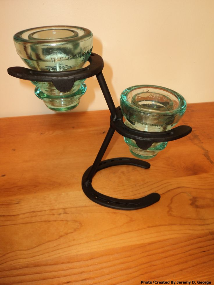 27 best images about horseshoe ideas on pinterest tack for Insulator candle holder