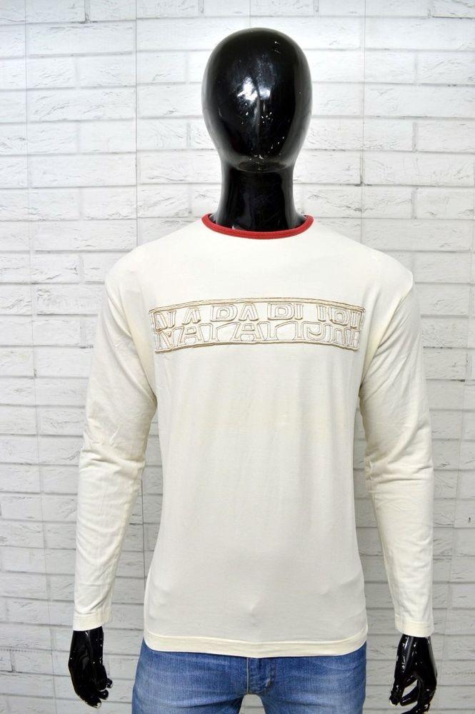 ac9ea0408 Maglia Bianca Uomo NAPAPIJRI Taglia Size L Polo Manica Lunga Shirt Man  White Top