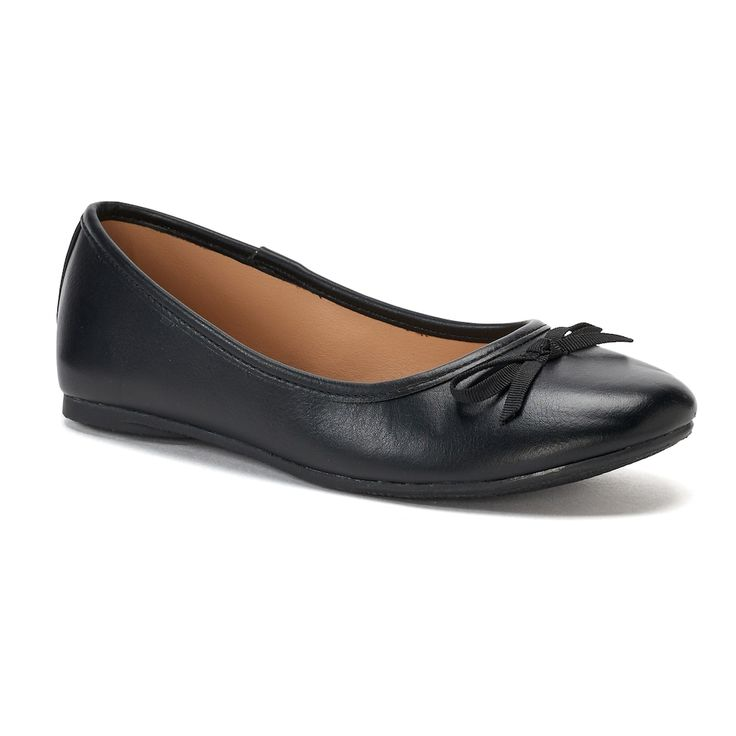 SO® Candy Girls' Ballet Flats, Size: 12, Black