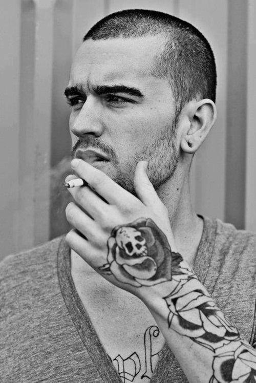 Skull with Rose Tattoo on Hand for Men | Damn | Pinterest