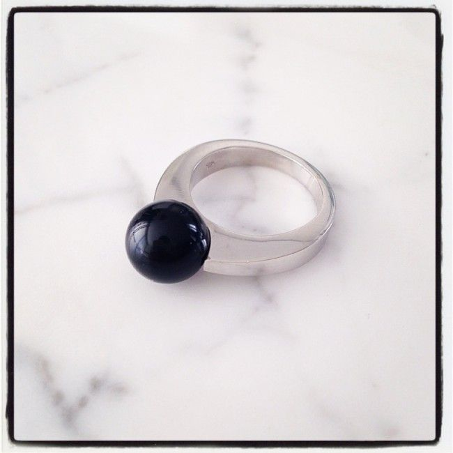 Ring from silver with Black Onyx 36€