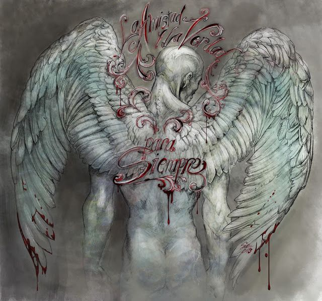 copyright Sirkku Tuomela, angel, pencil and ink on paper, photoshop coloring