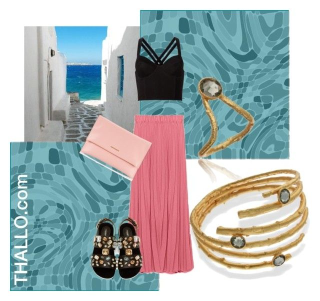 Summer in Greece, thallo.com by thallo on Polyvore featuring Fleur du Mal, Dolce&Gabbana and Coccinelle