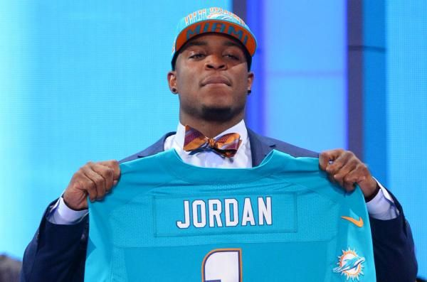 The Miami Dolphins waived defensive end Dion Jordan, the third overall pick four years ago, on Friday with a failed physical designation.