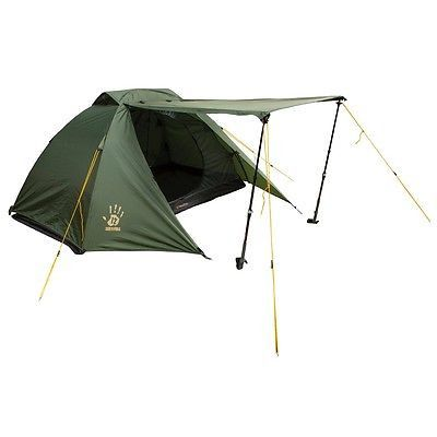 12 Survivors Shire 2P Person Free-Standing 3 Season Tent w/ Carrying Bag TS75001