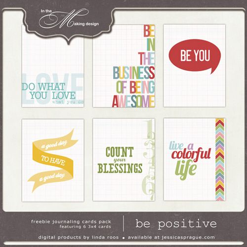 Freebie-  live for only one week.  7 Days in May, day 1 – Be positive - JessicaSprague.com