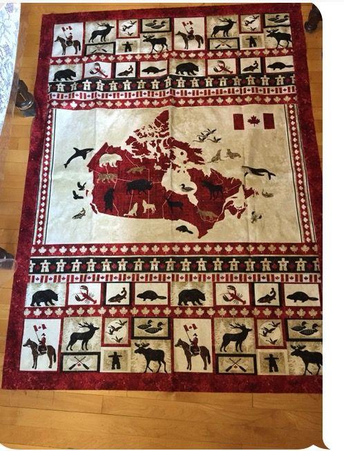 Canada 150 quilt top.