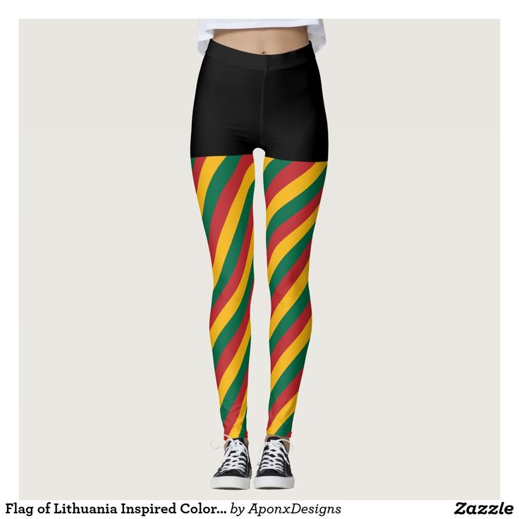 Flag of Lithuania Inspired Colored Stripes Pattern