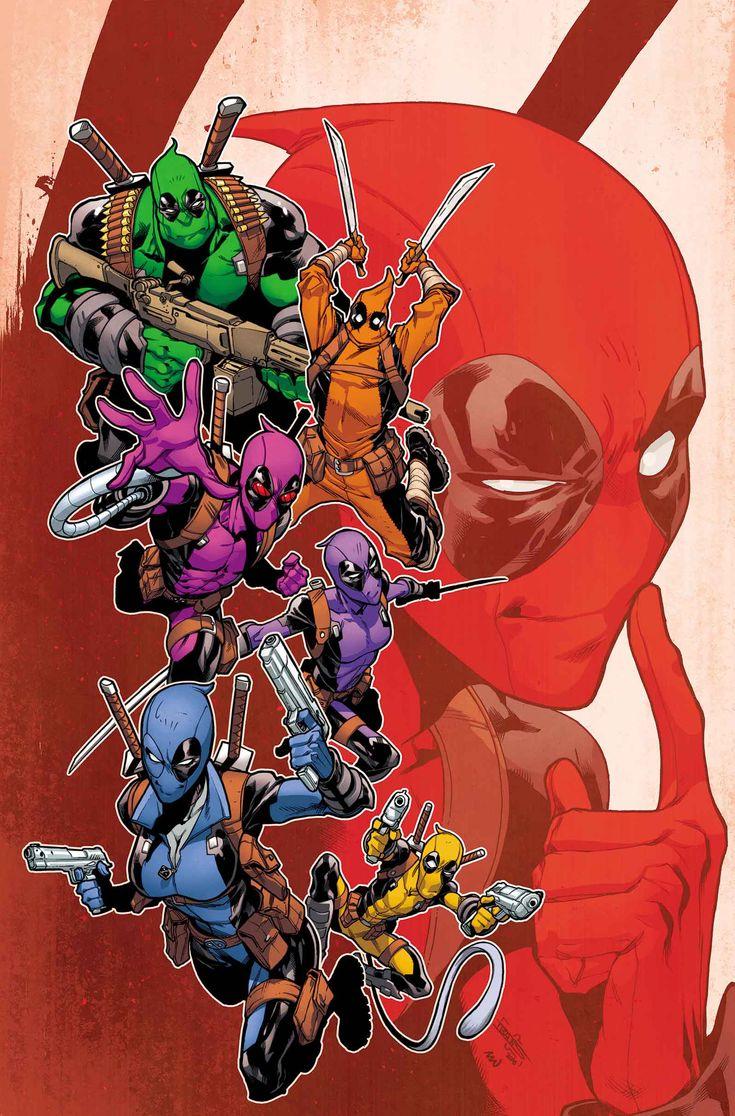 DEADPOOL AND MERCS FOR MONEY #6Hay un nuevo líder en Mercs for Money y ella se llama Domino.   • ¡Pero eso no significa que Deadpool no pueda aún opinar sobre el uniforme del equipo!   • Rainbow Deadpool Squad está de vuelta - ¡nuevo y mejorado!
