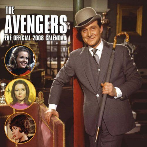 Calendar for The Avengers (TV series) displaying logo and characters of the 1960s series