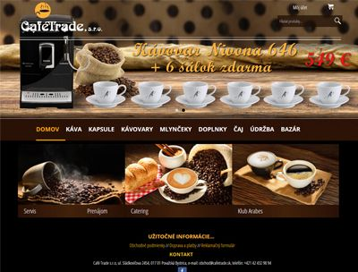 Web stránka CafeTrade.sk