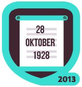 """[New Badge] #SumpahPemuda (2013): """"Semangat gerakan pemuda yang lebih baik untuk menjadi indonesia satu. Ayo Check in dengan produk anak bangsa"""" #SumpahPemuda 28 October 2013."""