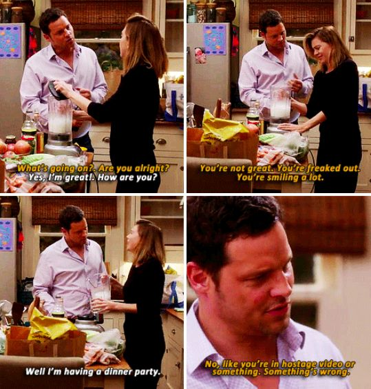 I love that he knows her so well. - meredith and alex