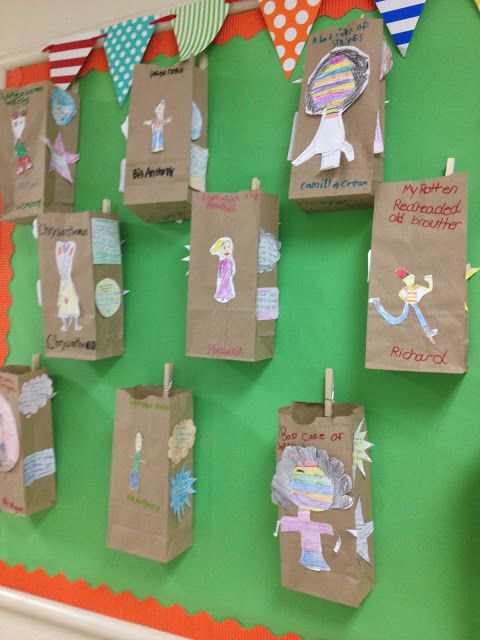 character traits- paper bag activity