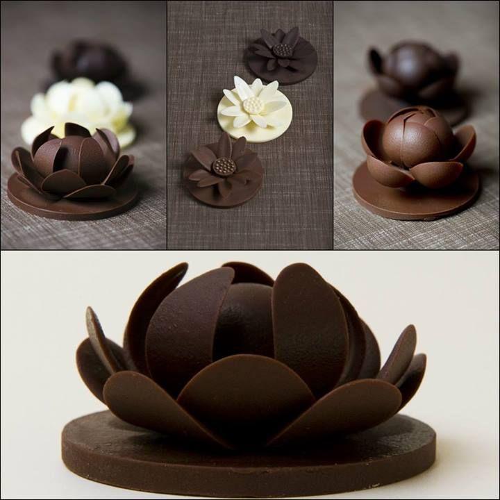Oggetti d'cioccolato - un fiore di loto.  Video Passo 1