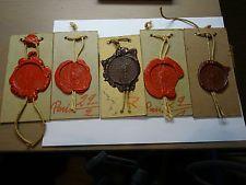 Lot de 5 anciens sceaux/cachets à la cire de l'ambassade de Belgique à Paris