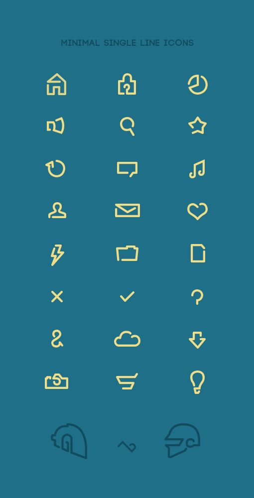 Minimal single line icons by Tom Pennington, via Behance