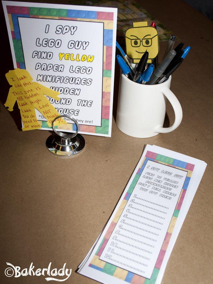 I Spy Lego Guy game with free printables!