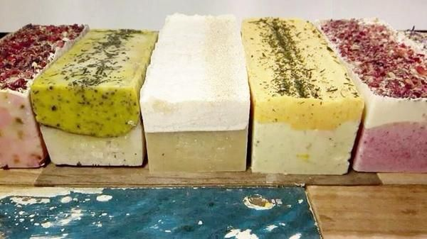 handcrafted soap using traditional cold process method