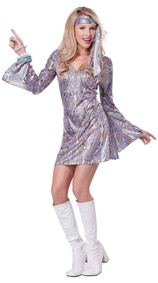 7e063013e Adult Disco Hottie 60's Go Go Costume - Women's 60s & 70s Costumes | 60s |  Disco costume, 70s costume, Disco costume for women