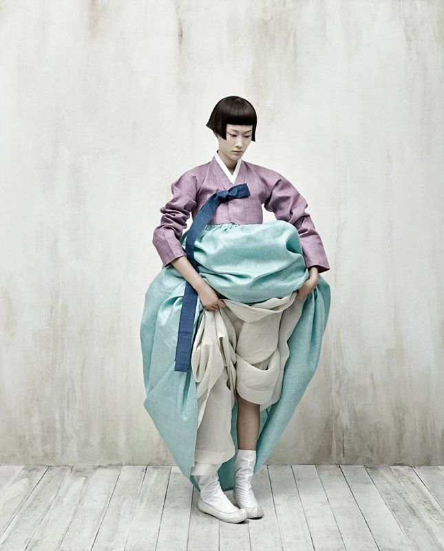 Korean Hanbok pants, shoes