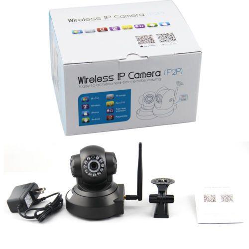 Popular Black Remote P2P 1,000,000 Pixel Wireless IP Camera Night Vision