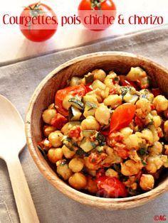 Poêlée de courgettes, pois chiches & chorizo - Recherche fruits et légumes de qualité désespérément ! -